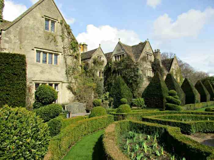 Abbey House Gardens in Malmesbury, Wiltshire, UK are a stunning collection of both formal and riverside gardens. Home to the naked gardeners.