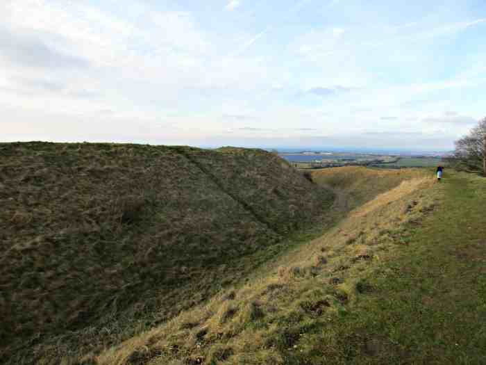 Barbury Castle is an Iron Age hill fort situated about 5 miles south of Swindon, in Wiltshire. It boasts incredible views of the Marlborough downs and is the perfect place to get outside for a family walk.