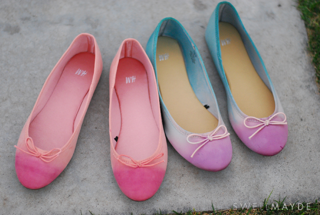 dip dyed shoes