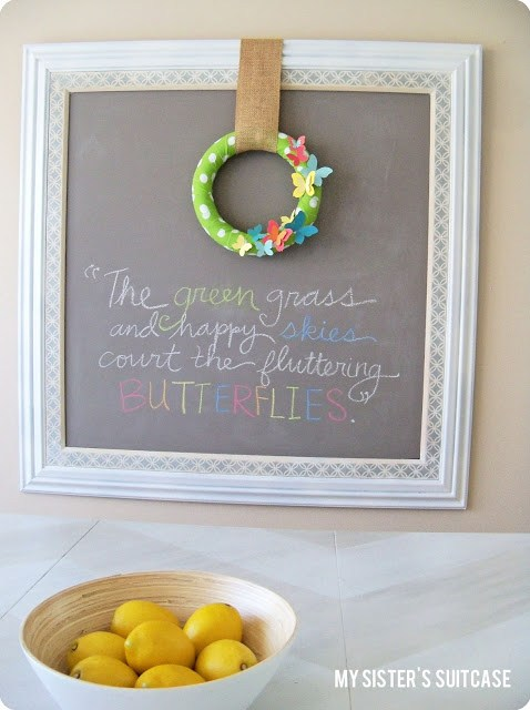 butterfly paint chip wreath