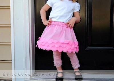 girls petals skirt
