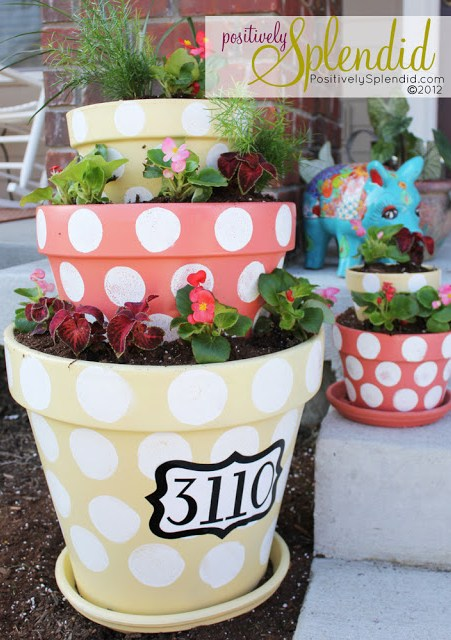 dot-painted-planters