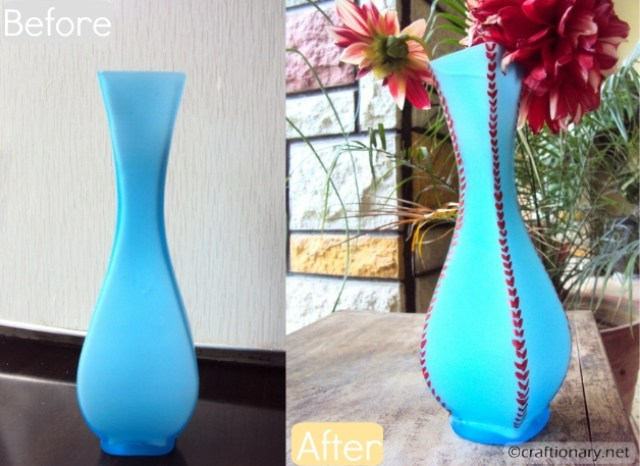 painted spring vase tutorial
