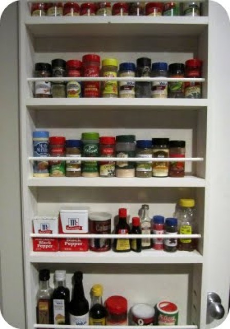wall mounted spice racks with doors