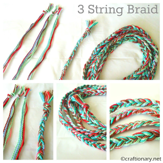 3 strings braid bracelet tutorial