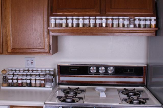 wall mounted spice rack uk