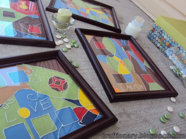 thread painted frames