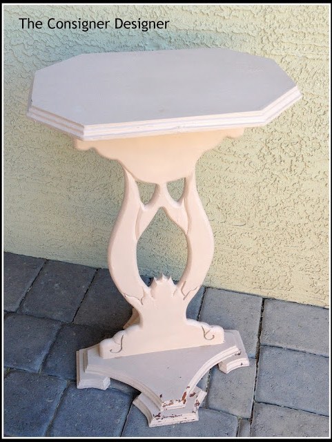 pink table makeover