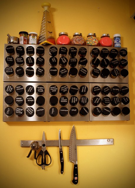wall mounted spice rack plans