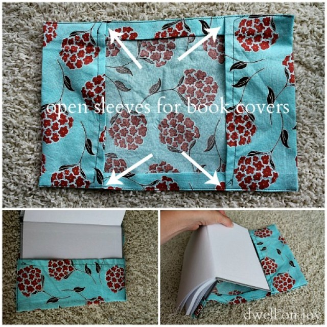 fabric journal cover sewing project