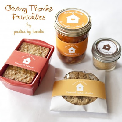 thanksgiving cookies free printable tags