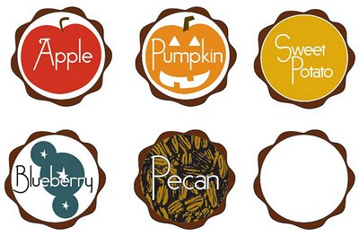 thanksgiving pie toppers