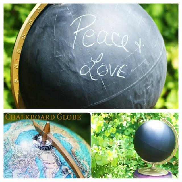 DIY chalkboard globe tutorial
