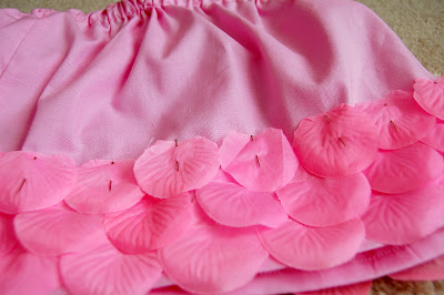 DIY petals skirt