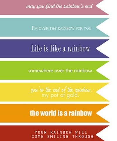 st patricks day rainbow