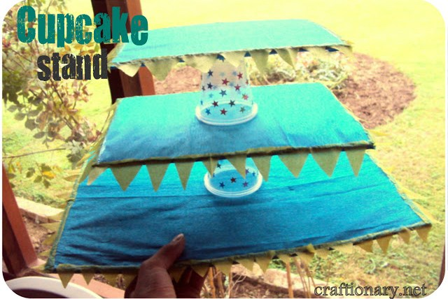 cardboard cupcake stand diy tutorial