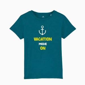 Tricou copii, albastru, vacation