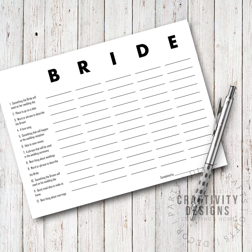 3 Free Printable Bridal Shower Games That Are Actually