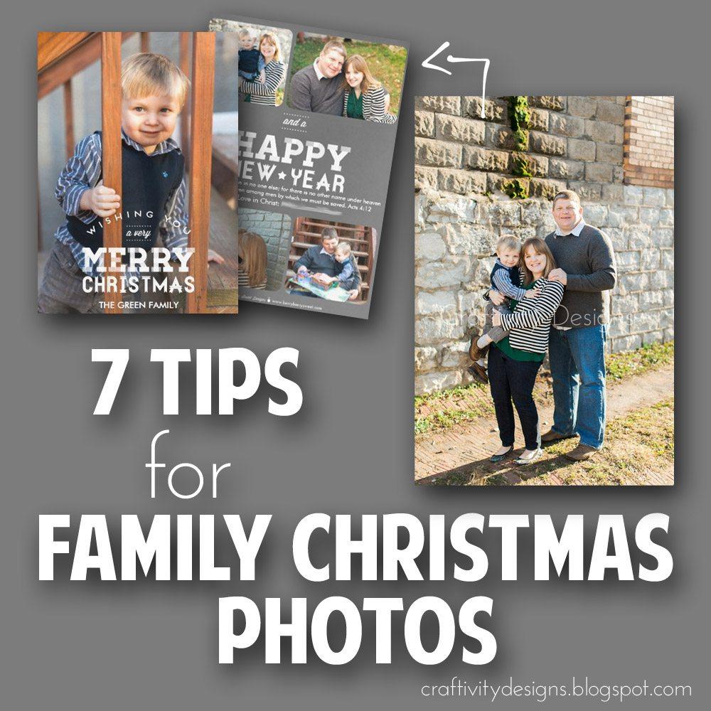 7 Tips For Family Christmas Photos Craftivity Designs