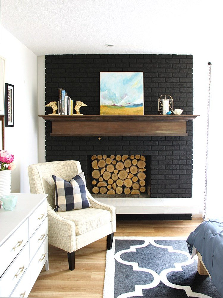 How to Paint a Brick Fireplace (and the Best Paint to Use ... on Brick Painting Ideas  id=30036