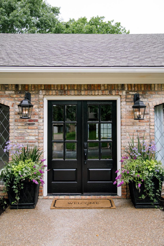 Front Door Ideas Front Door And Planter Combinations Matching Planters On Each