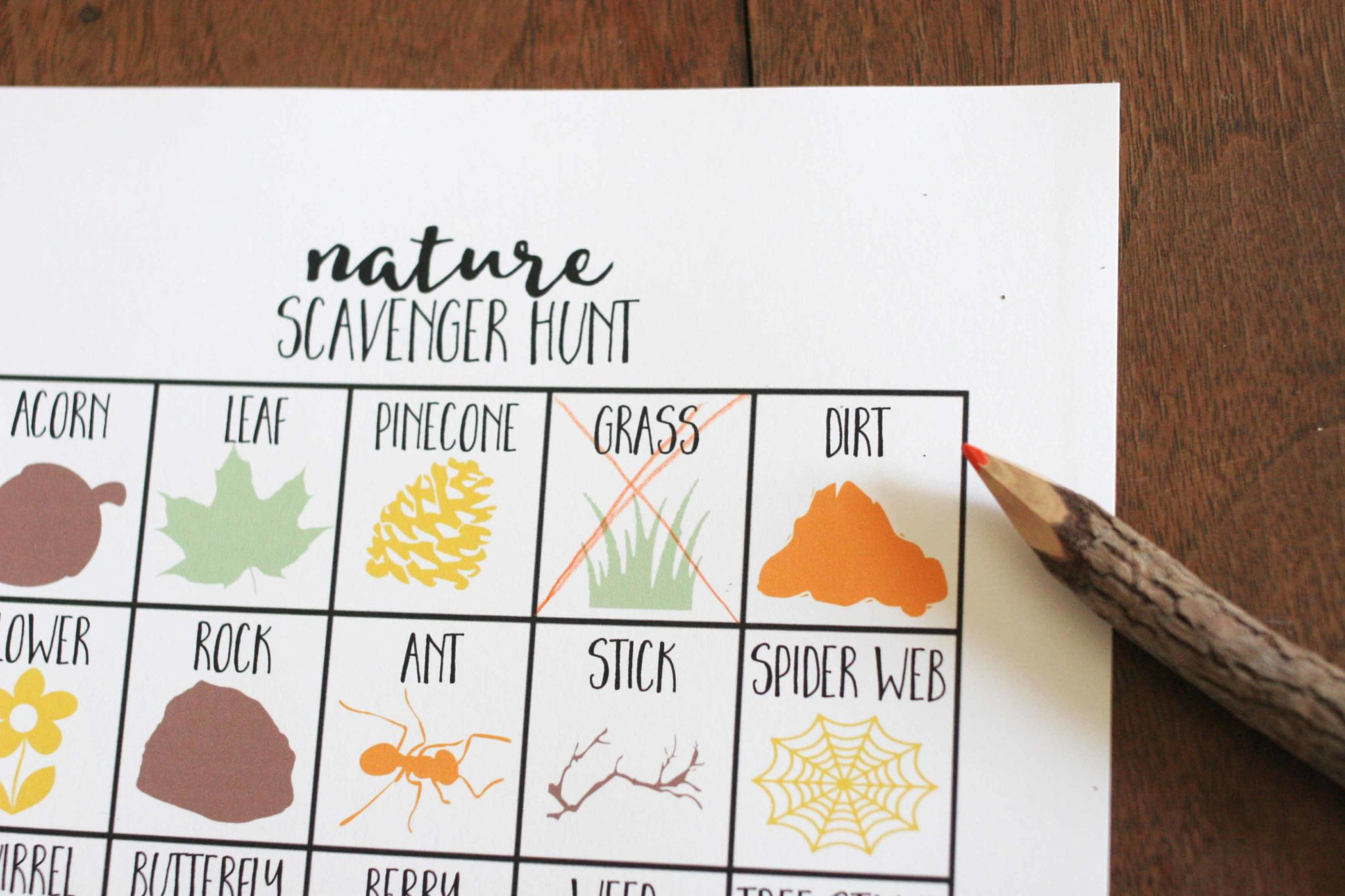 How To Go On A Nature Scavenger Hunt With Kids Free Printable Craftivity Designs