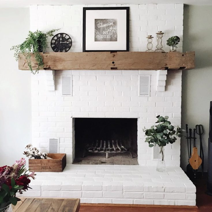 How to Paint a Brick Fireplace (and the Best Paint to Use ... on Brick Painting Ideas  id=38324