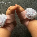 DIY Baby Bare Foot Sandals No Sew