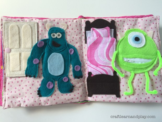 Monsters Inc Quiet Book