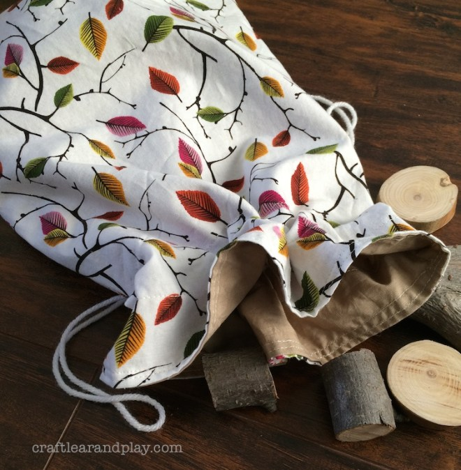 Nature string Bag for Wooden Blocks