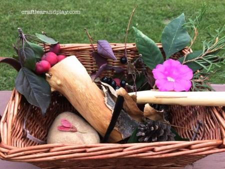 autumn basket from walk