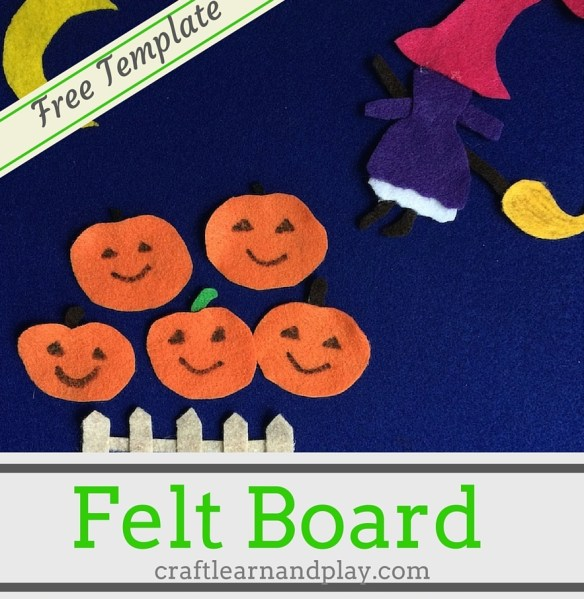 DIY Felt Board Story Five Little Pumpkins