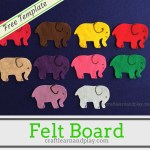 Simple Felt Stories For Young Kids: One Elephant Went Out to Play