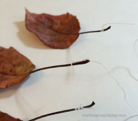 DIY Autumn nature mobile