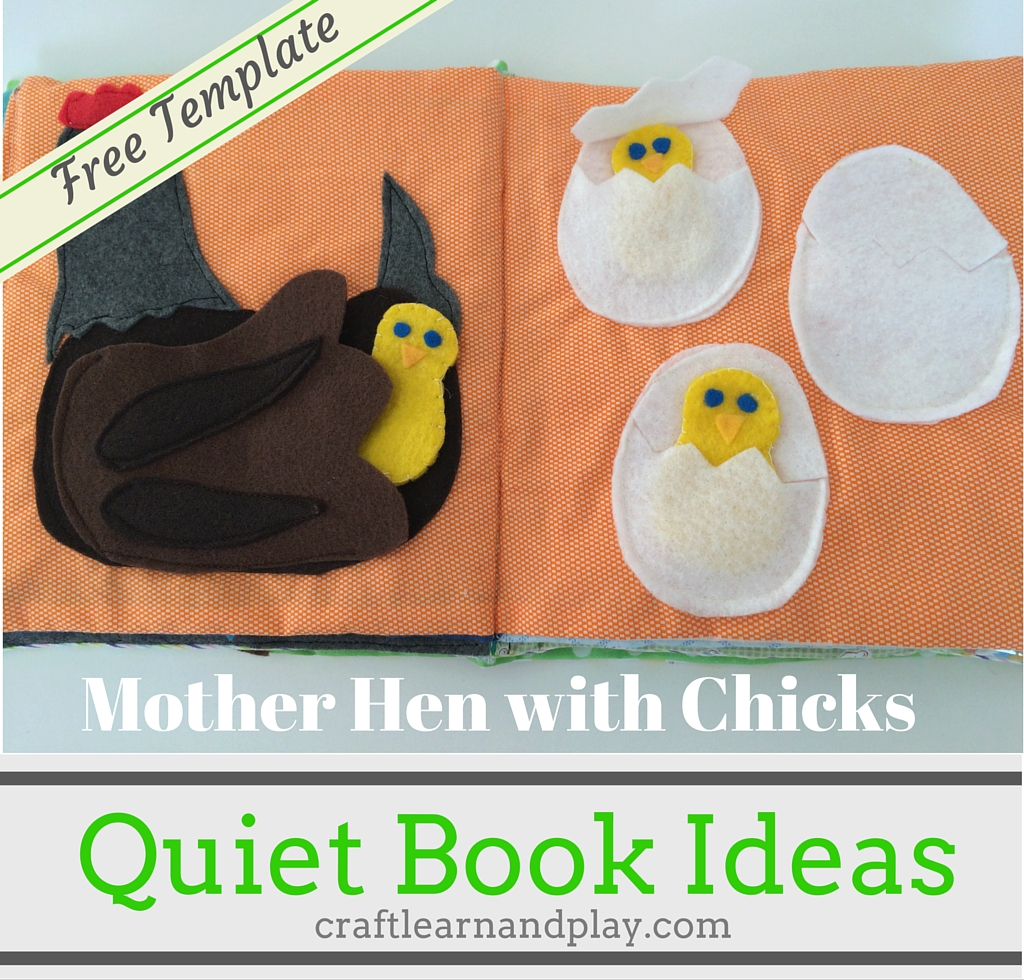 Quiet Book Patterns and Ideas - Mother Hen With Chicks