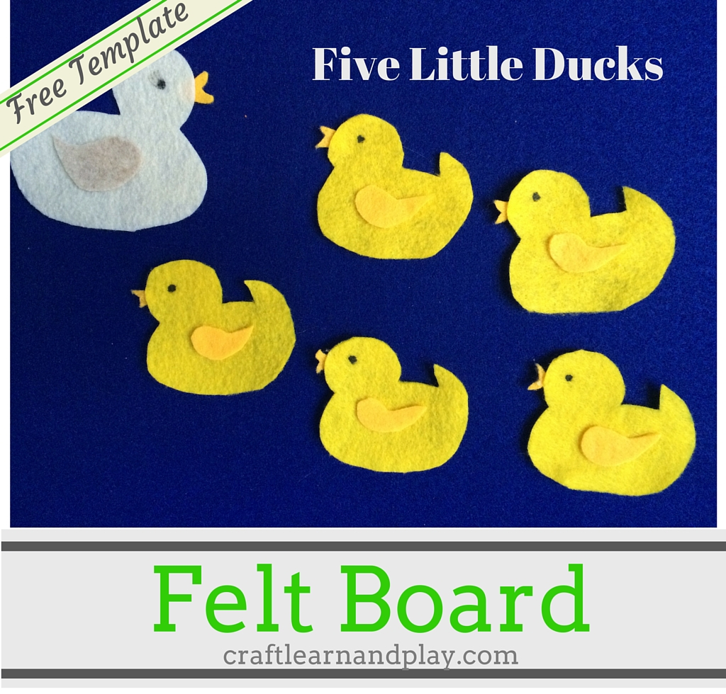 felt storyboard templates - felt board story five little ducks went out one day