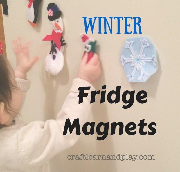 winter fridge magnets for kids play