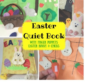 Easter Quiet Book with Felt Finger Puppets
