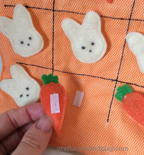 Easter tic tac toe bunnies vs carrots