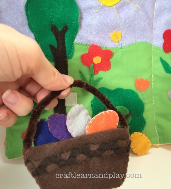 Felt Easter Basket from Quiet Book