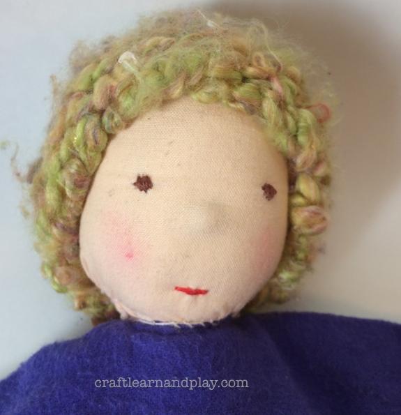 Waldorf baby Doll toy - Head