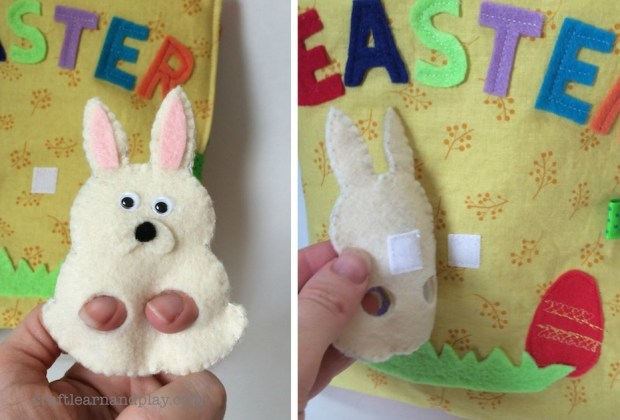 easter bunny finger puppet activity book