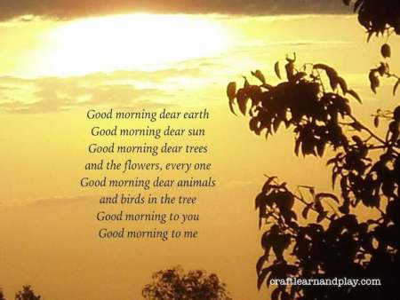 Good morning, dear earth - traditional Waldorf song