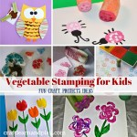 Surprise your kids with fascinating stamping vegetable crafts