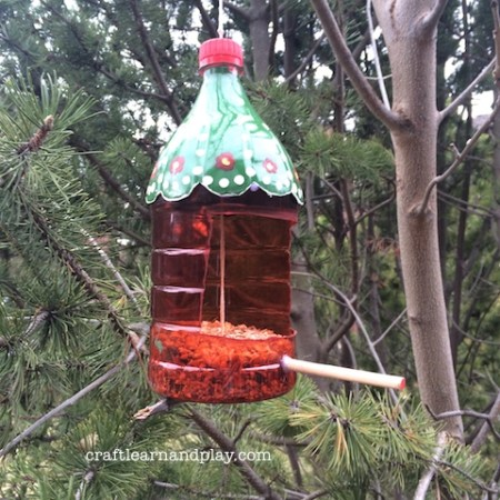 Easy to make with kids bird feeder