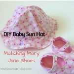 DIY Baby Sun Hat and Matching Mary Jane Shoes