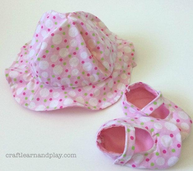 DIY sunhat and mary jane shoes baby