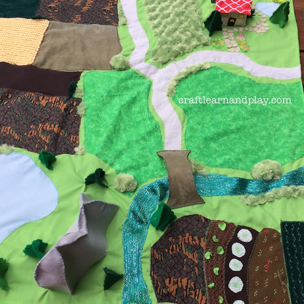 Fields play mat sewing project
