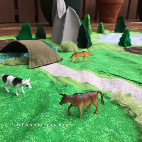 farm and fields playmat