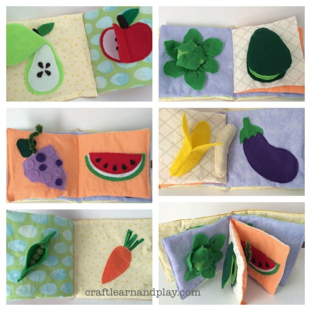 fruits and veggies activity book